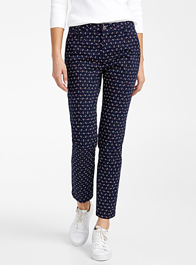 United Colors of Benetton Dark Blue Delicate pattern pant for women