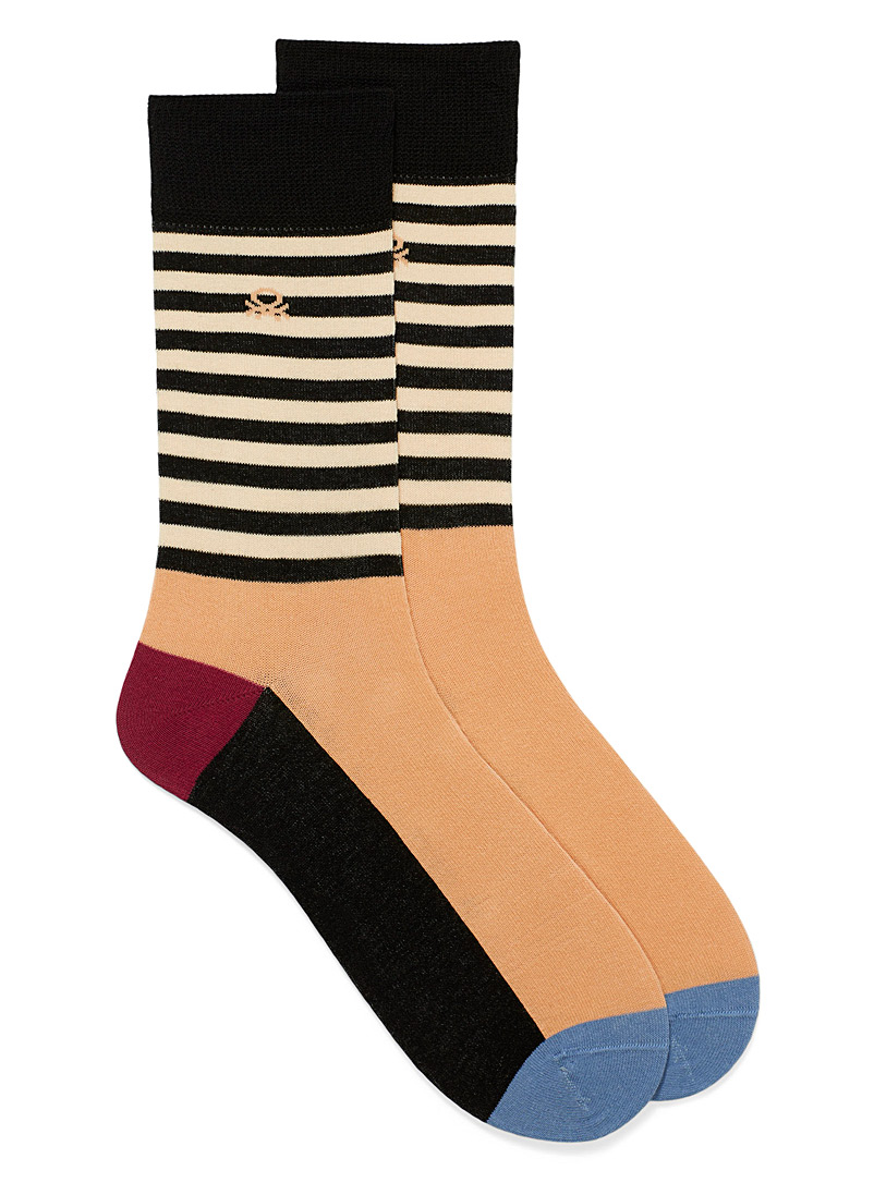 United Colors of Benetton Assorted Stripe and block socks for men