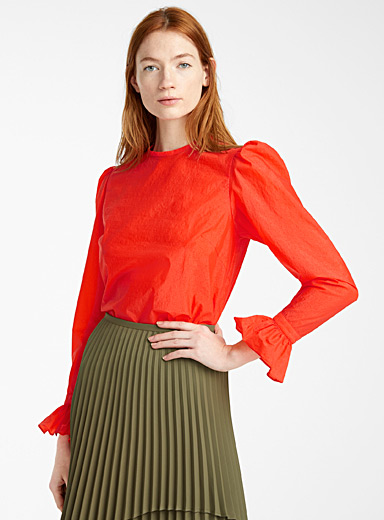 Beaufille Orange Maiolino blouse for women