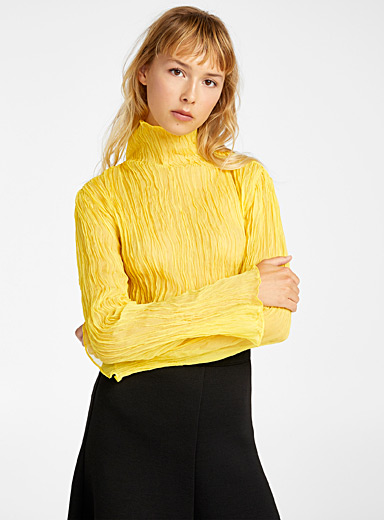 Ellery Light Yellow Le Sauvage top for women
