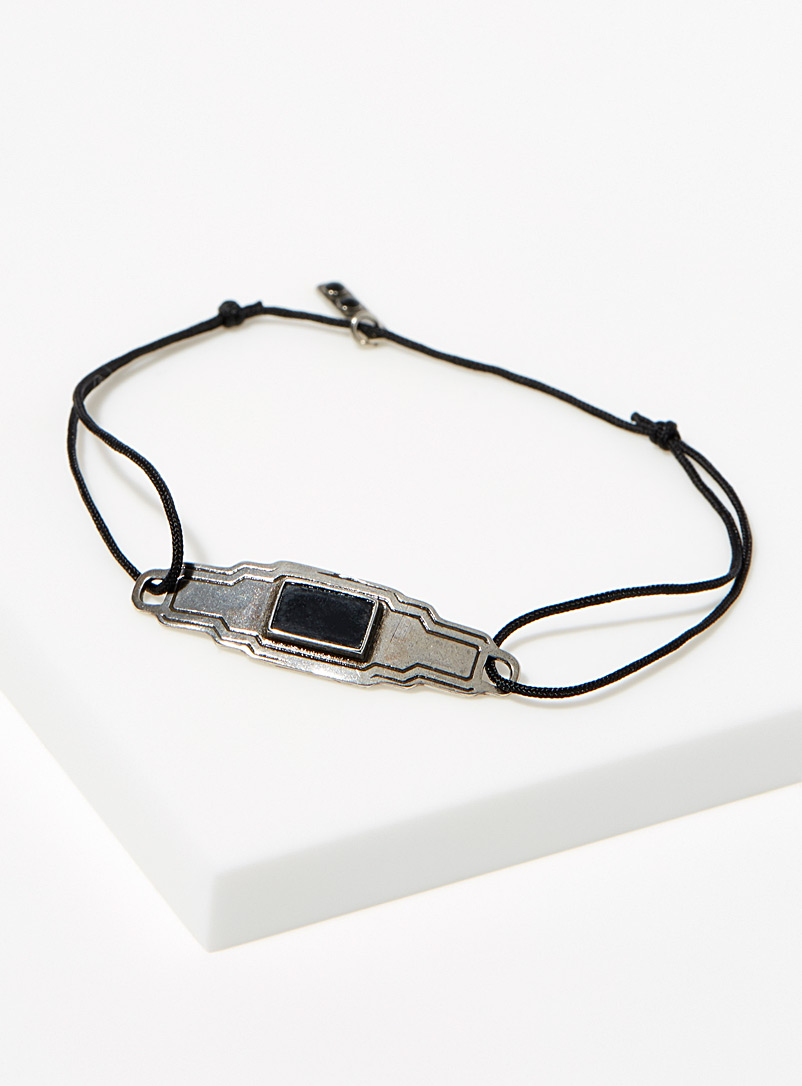 HËNKO Black Onyx insert bracelet for men