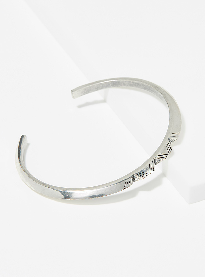 HËNKO Silver Openwork triangle bracelet for men