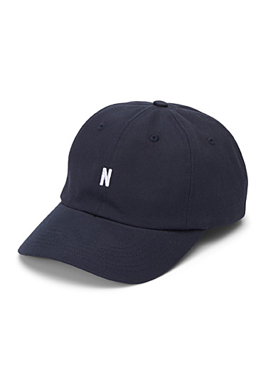 Norse Projects Dark Blue N logo cap for men