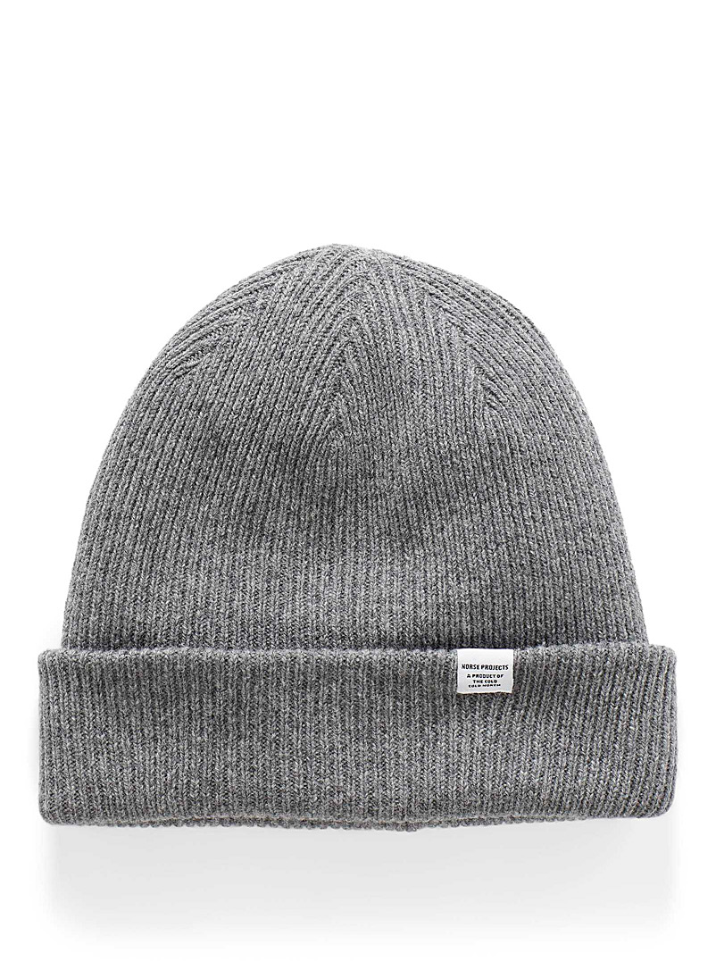 Norse Projects Grey Norse wool tuque for men
