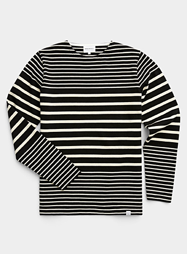 Norse Projects Black Graded stripe T-shirt for men