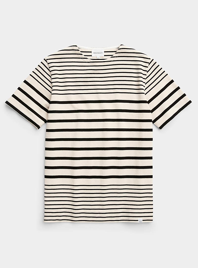 Norse Projects Ecru/Linen Graded stripe short-sleeve T-shirt for men