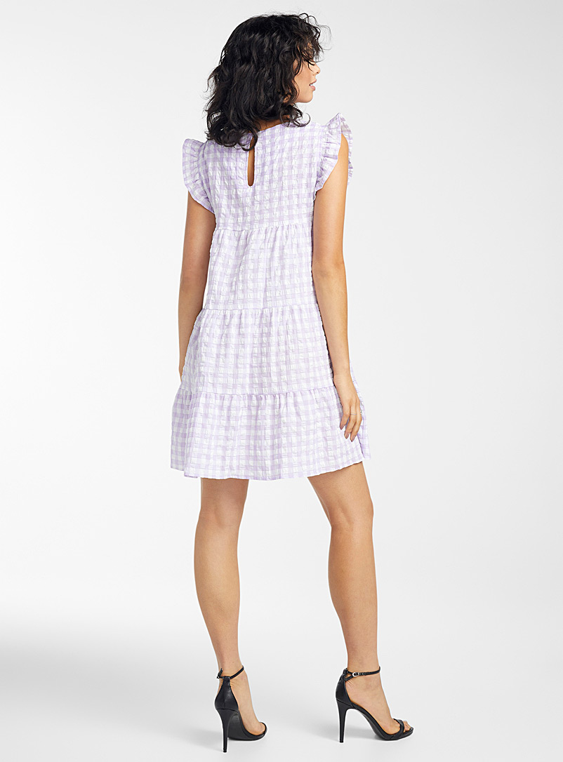 Icône Lilac Lilac gingham dress for women