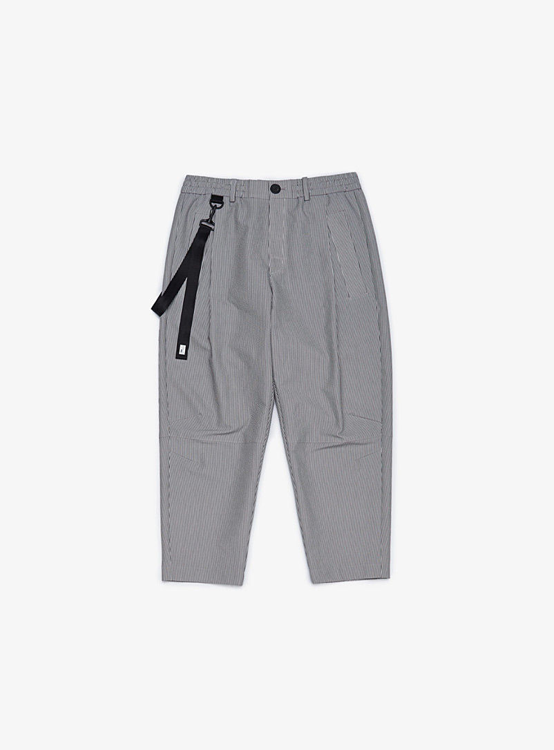 Iise Grey Stripe cropped pant for men