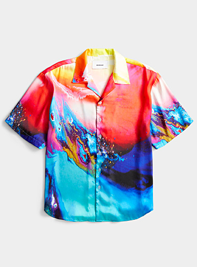 Bonsai Assorted Abstract explosion camp shirt for men