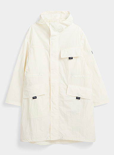 Napa by Martine Rose White Vanilla trench coat for men