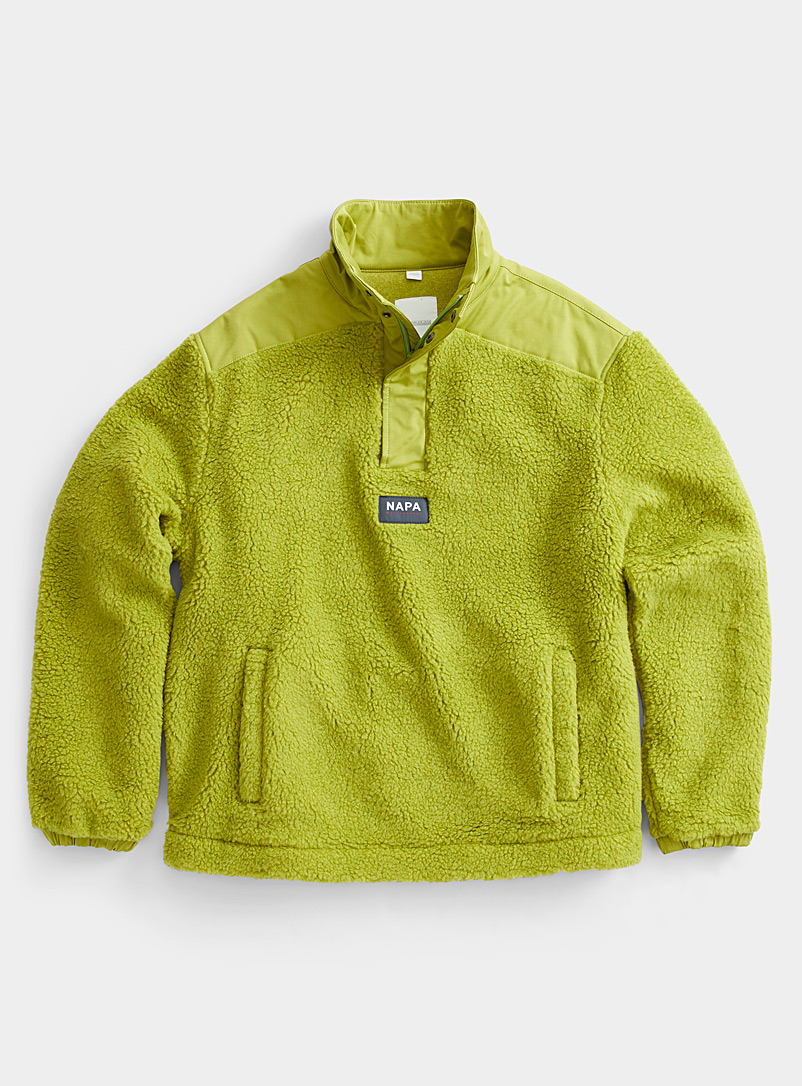 Napa by Martine Rose Green Sherpa sweatshirt for men