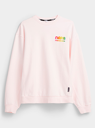 Napa by Martine Rose Pink Pink stamped logo sweatshirt for men