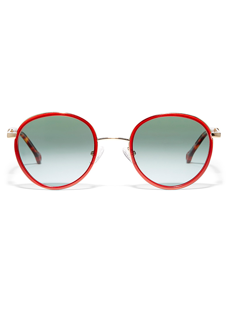 Parafina Red Huracán II round sunglasses for women