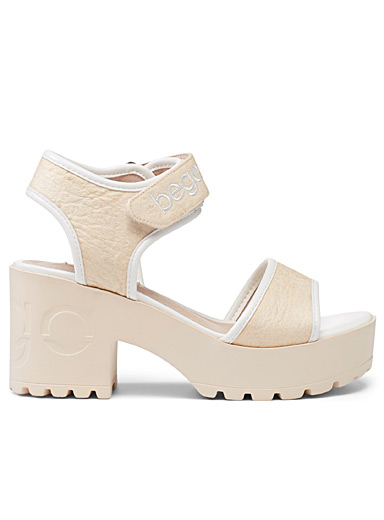 Drey pineapple leather heeled sandals