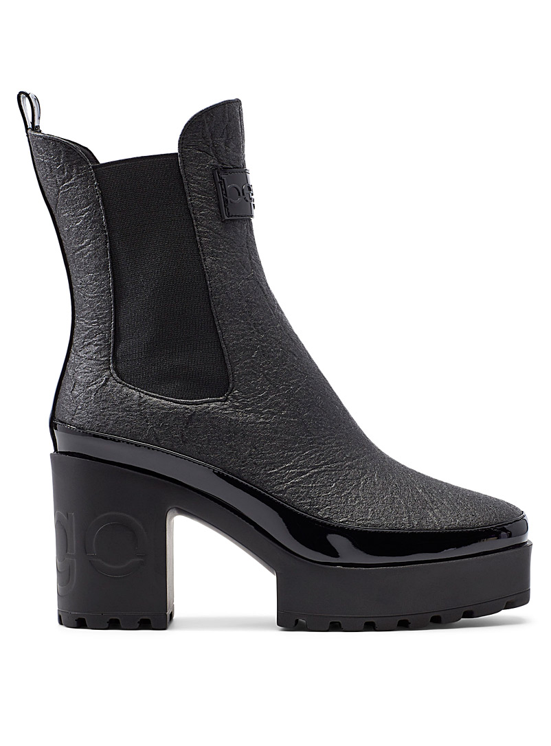 Bego Black Sofi pineapple leather Chelsea boot for women