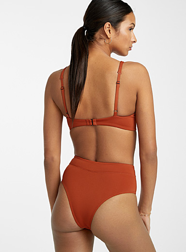 ORNORM par MARIPIER Copper Subtly topstitched cheeky bottom for women