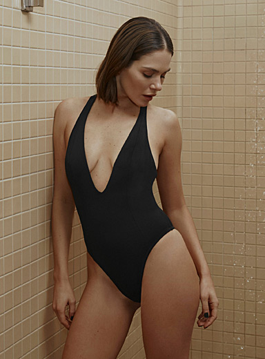 Plunging racerback one-piece
