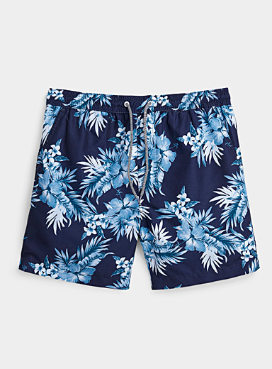 Tropical blues swim trunk