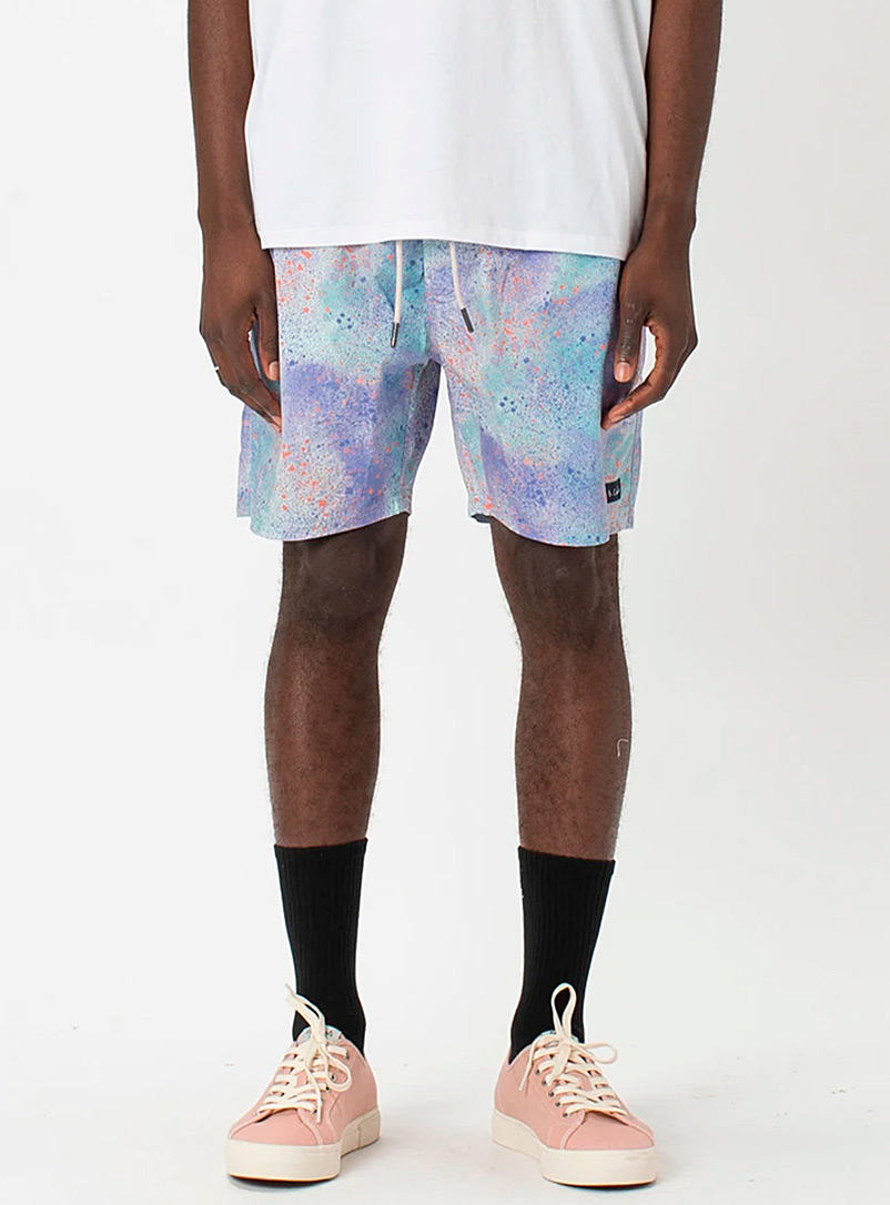 Barney Cools Lilacs Aerosol pastel pull-on short for men