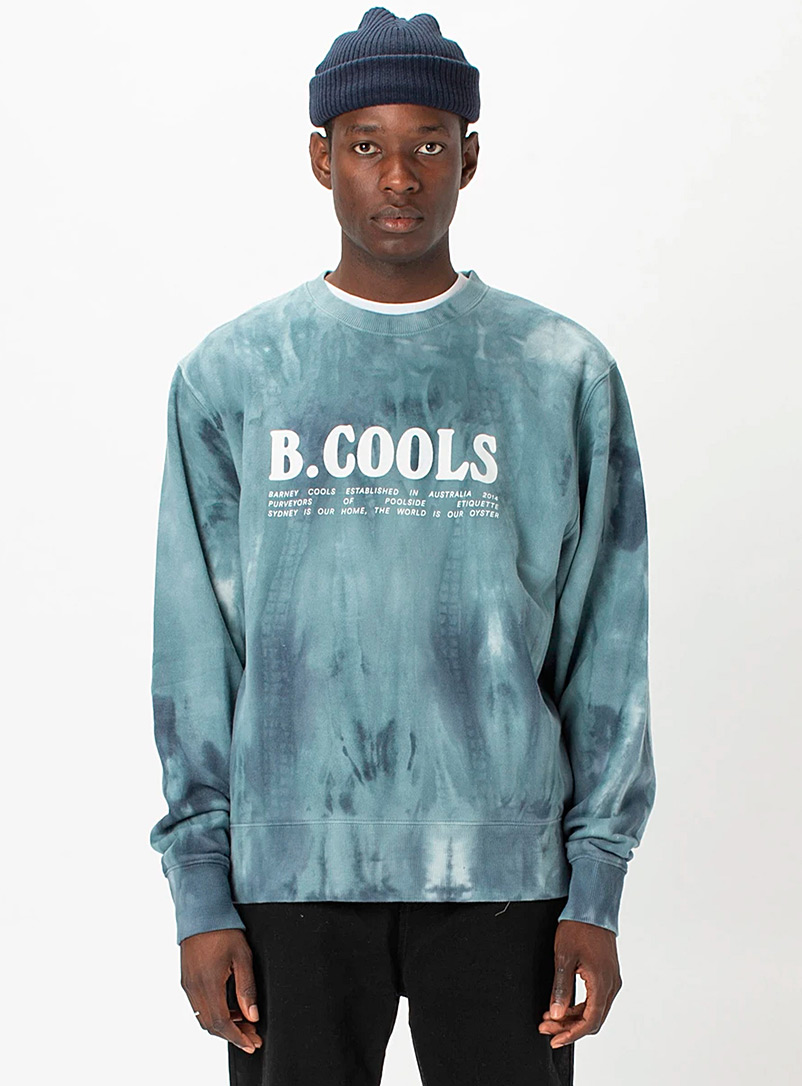 Barney Cools: Le sweat tie-dye marin Marine pour homme