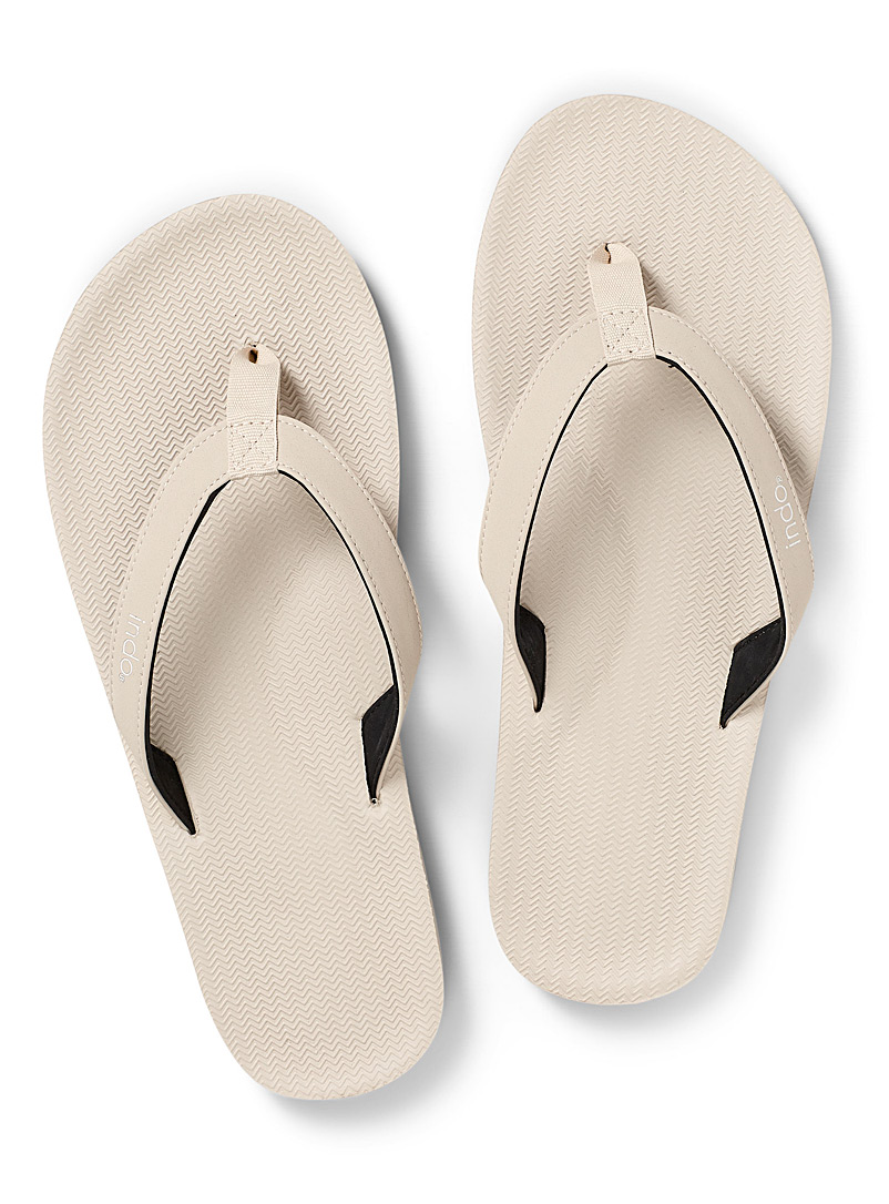 Indosole Ivory White ESSNTLS flip-flops Men for men