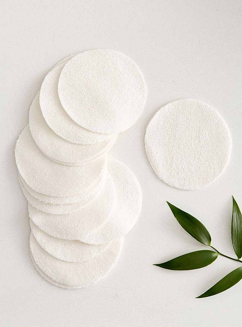 OLA Bamboo Cream Beige Eco-friendly bamboo reusable makeup remover pads Set of 16