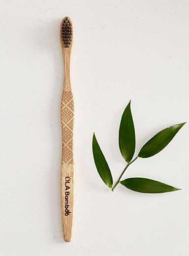 Eco-friendly charcoal-infused bamboo toothbrush
