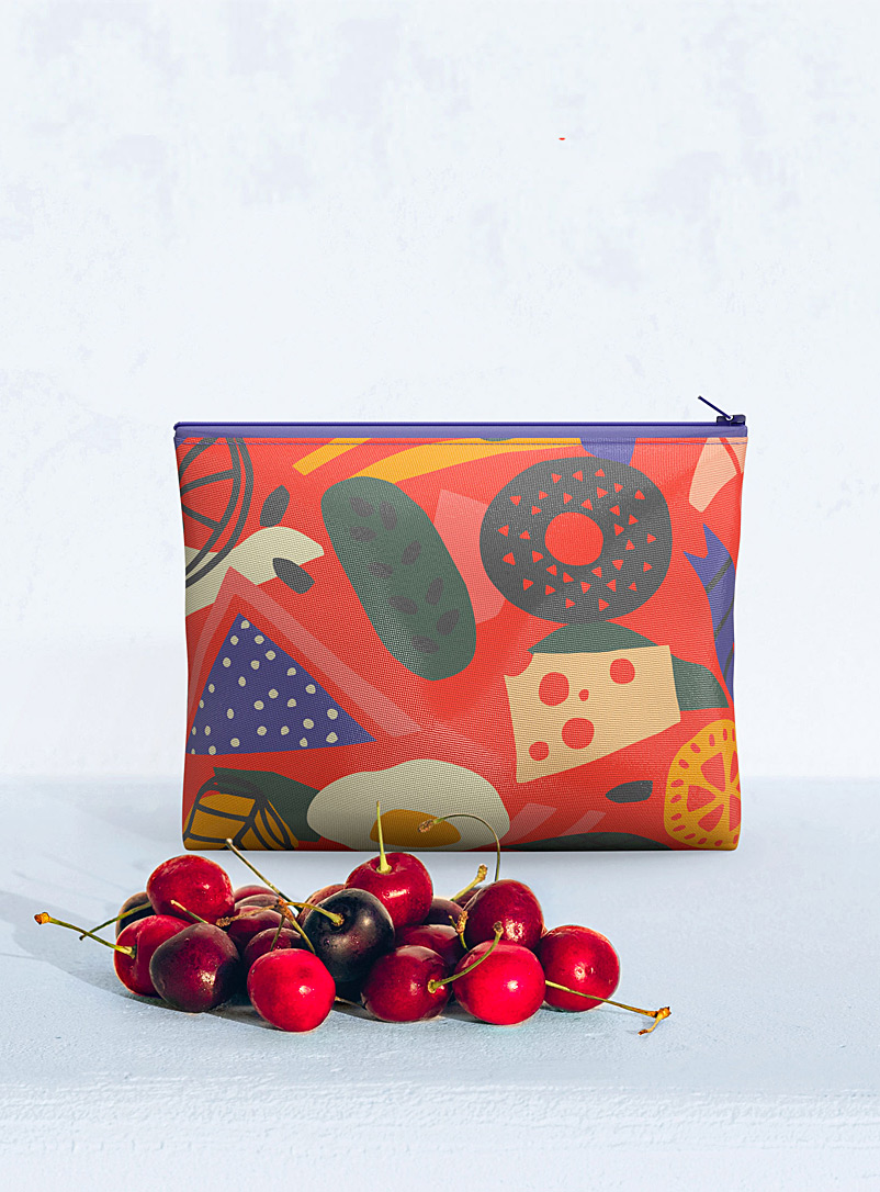 Fun food medium reusable snack bag - Hubert Cormier - Red