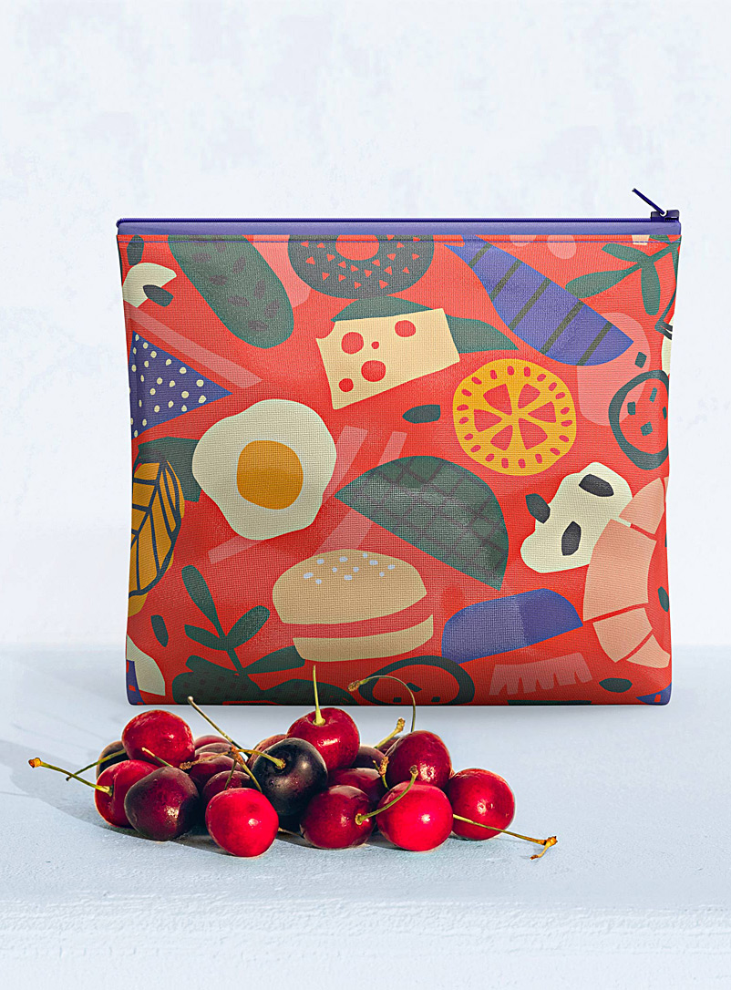 Hubert Cormier Red Fun food large reusable snack bag