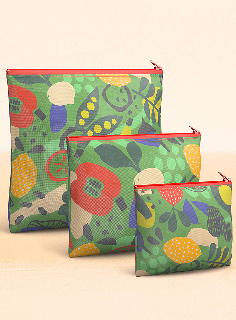 Vegetable reusable snack bags  Set of 3