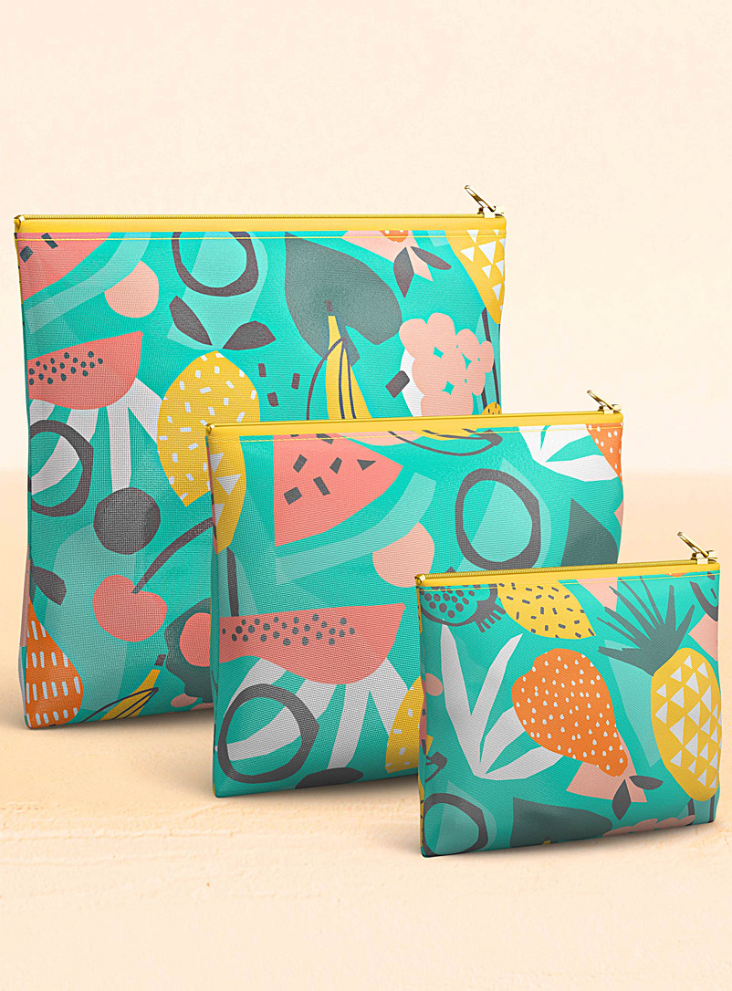 Fruity delight reusable snack bags  Set of 3