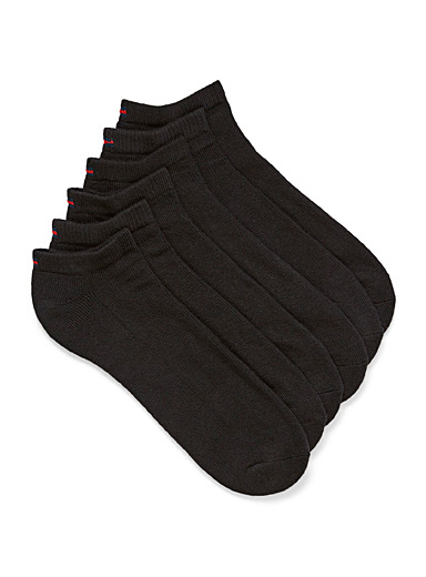 Padded solid ankle socks  6-pack