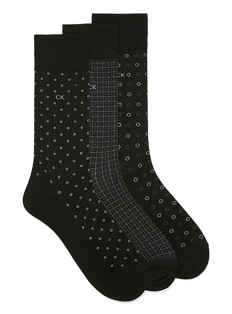 Modern geometric dress socks  3-pack