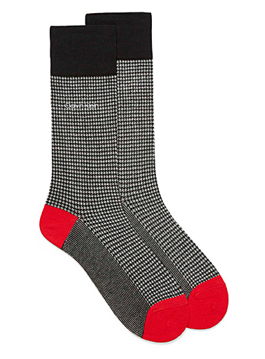 Houndstooth dress socks