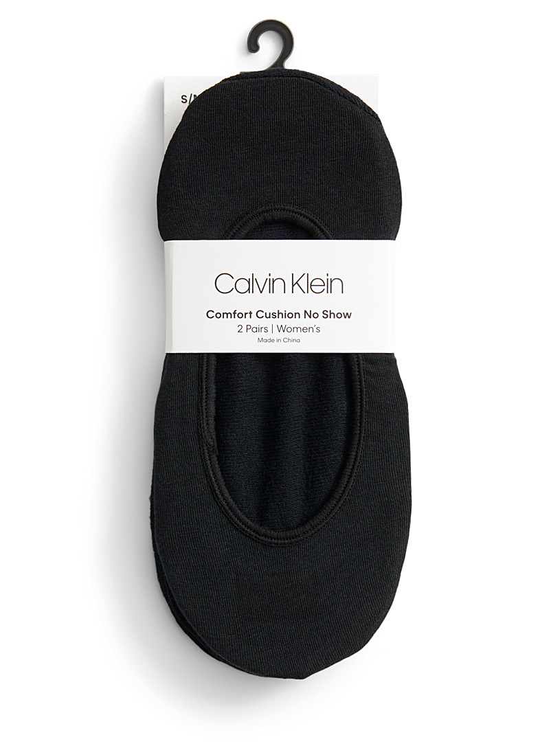 Calvin Klein Black Classic foot liners  Set of 2 for women