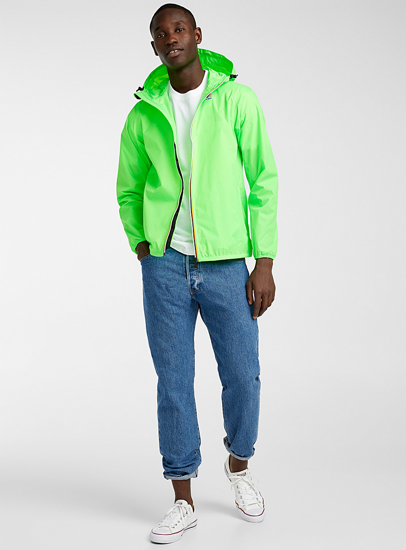K-Way Lime Green K-Way windbreaker for men