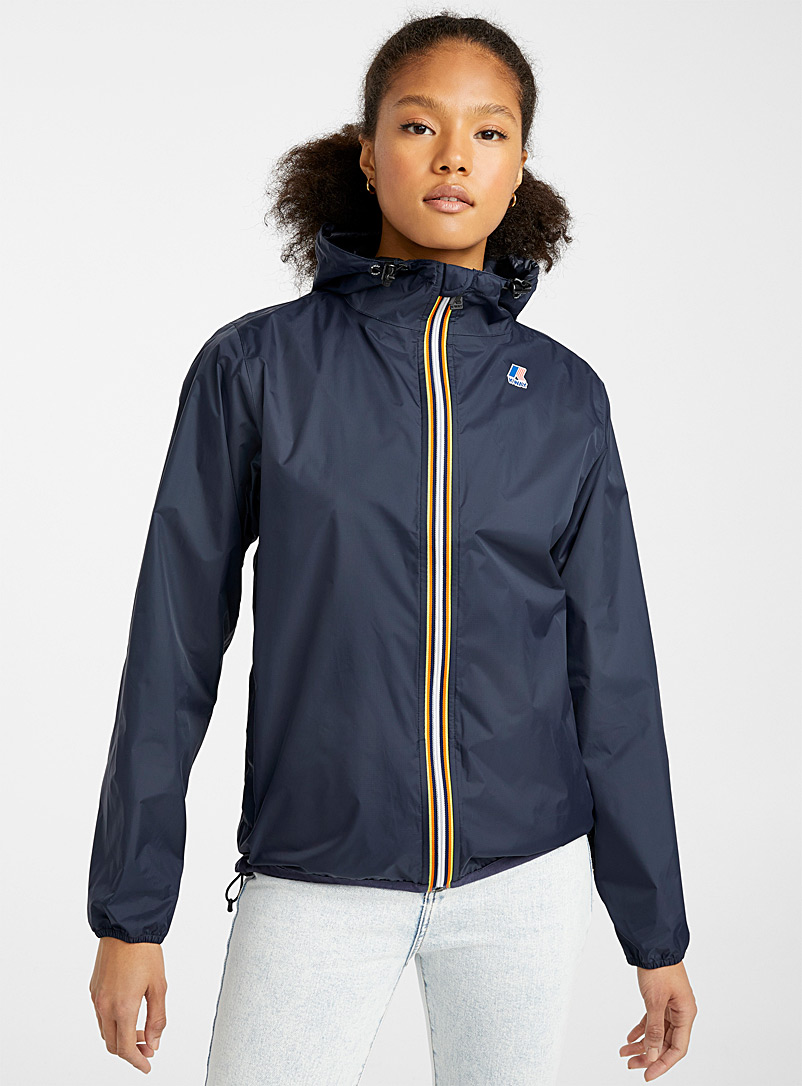 K-Way Blue Le vrai Claude 3.0 raincoat for women