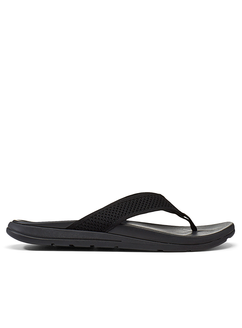 Simons Black Woven strap flip-flops for men