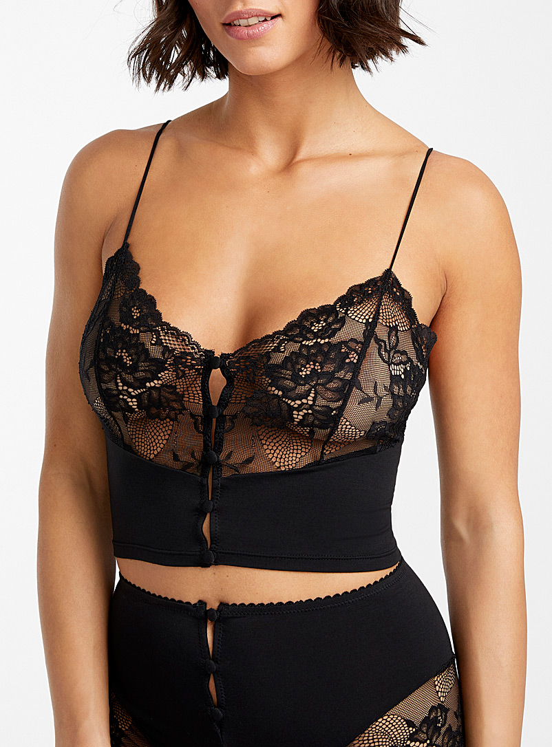 Lonely Black Hollie long bralette for women