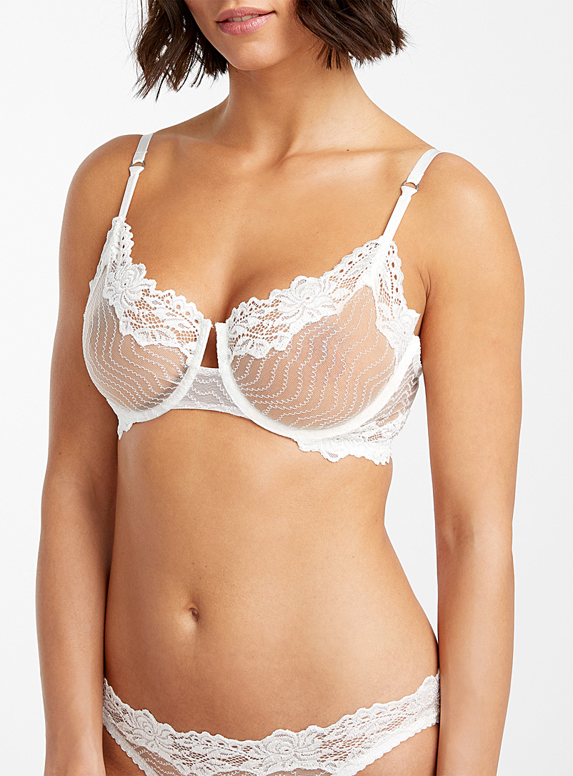 Lonely Ivory White Bonnie balconette bra for women