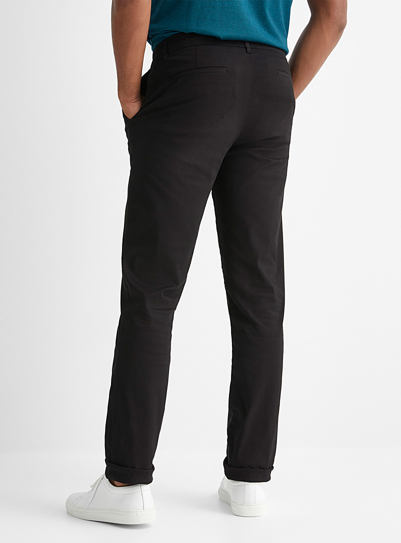 Le 31 Black Stretch TENCEL* lyocell chinos  London fit-Slim straight for men