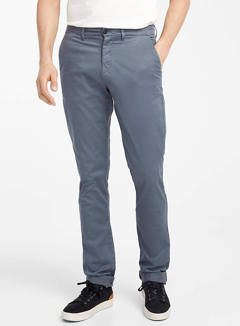 Le chino lyocell TENCEL* extensible  Coupe London - Droite étroite