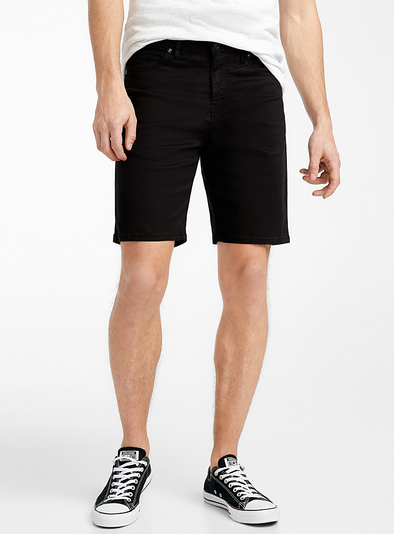 Le 31 Black 5-pocket eco-friendly Bermudas for men