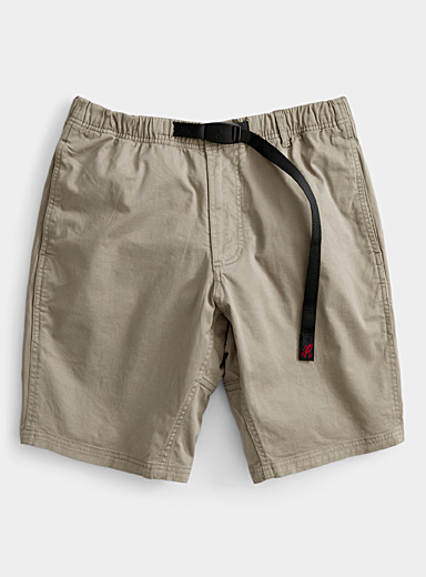 Gramicci Khaki Comfort-waist chino short for men