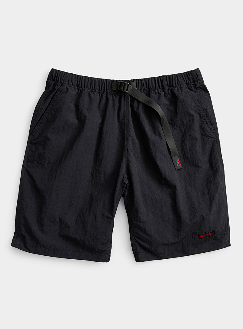 Gramicci Black Nylon comfort- waist short for men