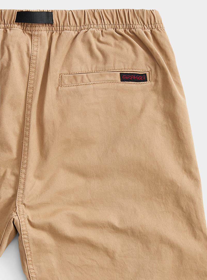 Gramicci Sand Belted comfort waist brushed pant  Straight fit for men