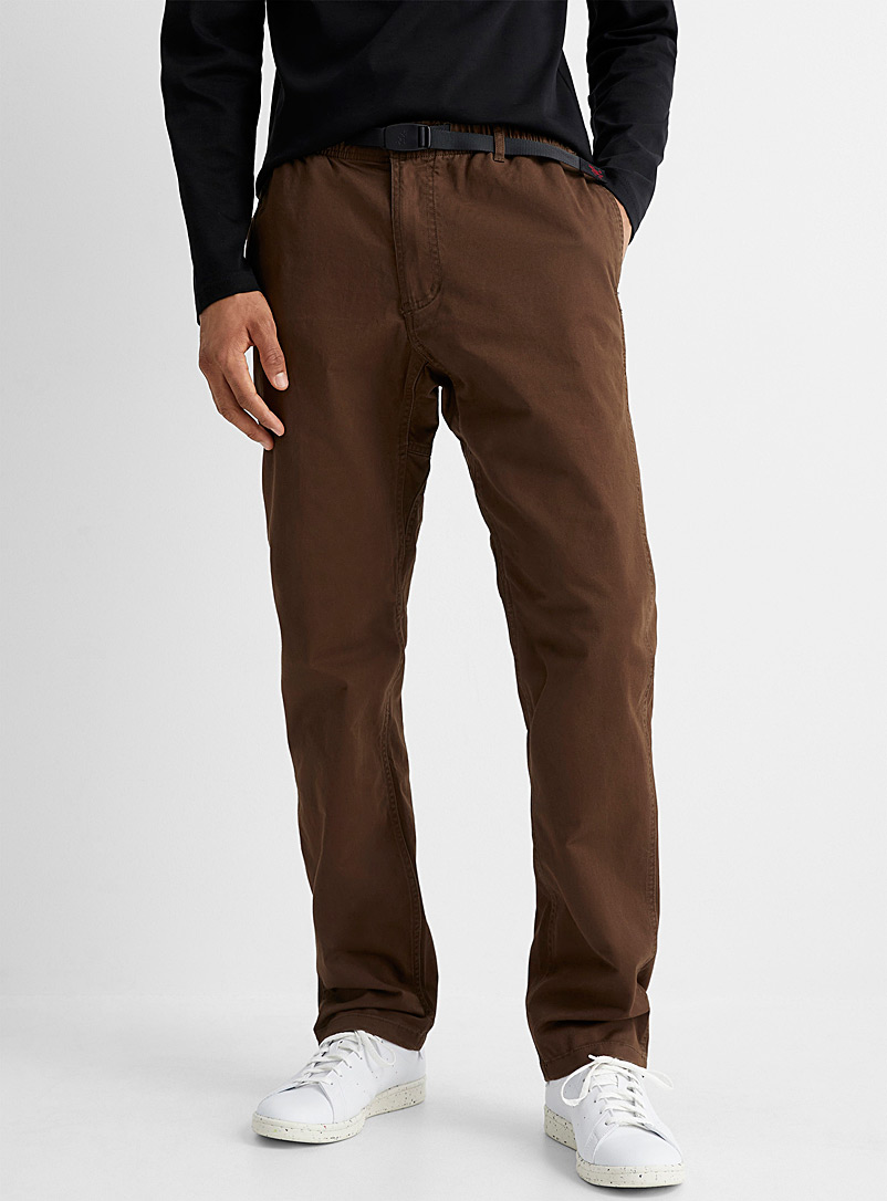 Gramicci Medium Brown Comfort waist pant  Straight fit for men