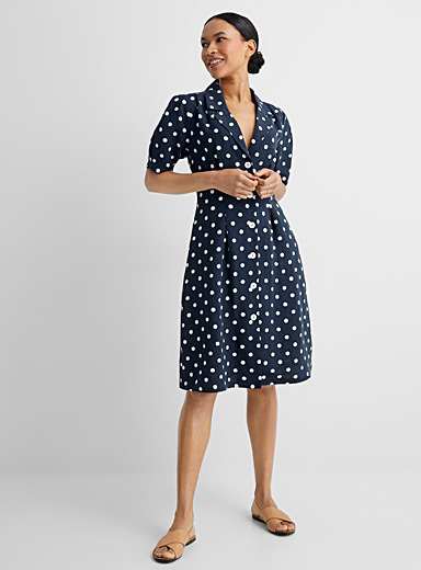 Retro dot shirtdress