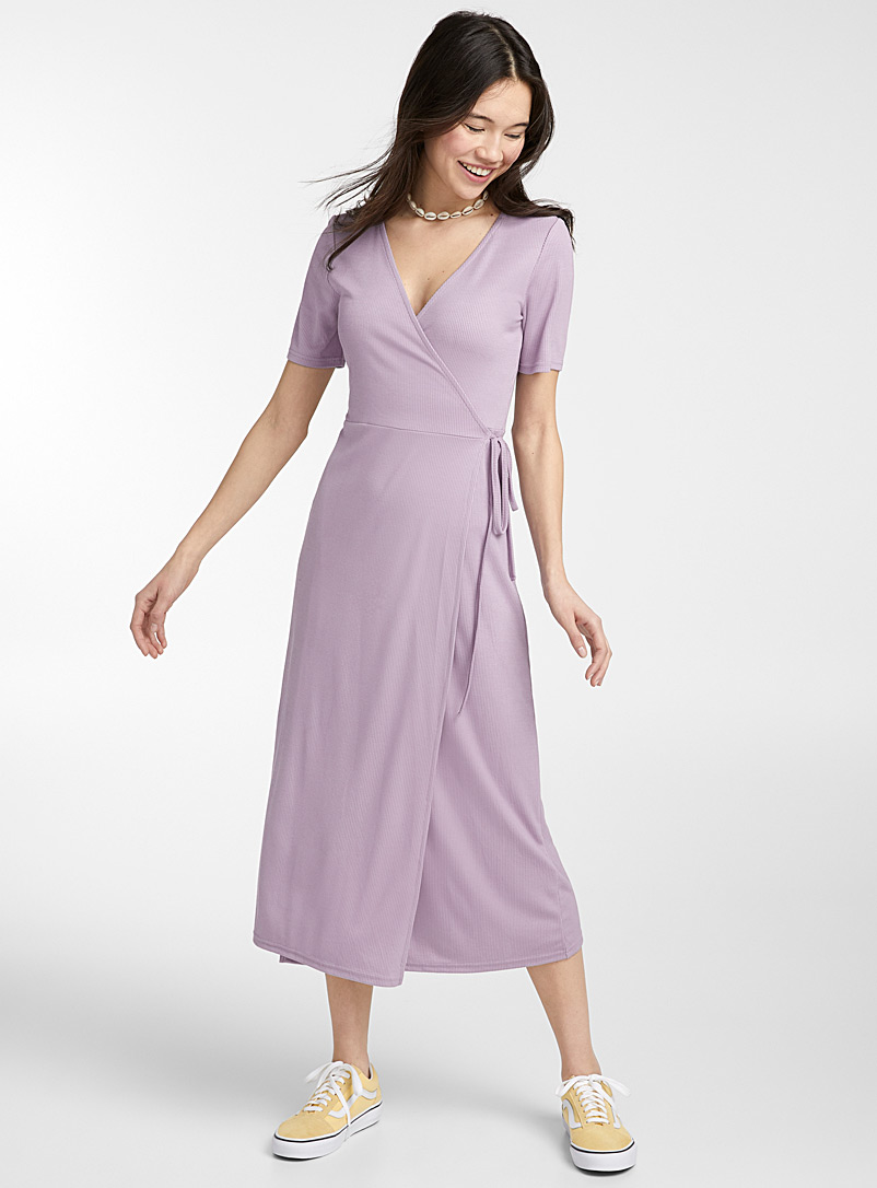 Twik Mauve TENCEL* modal wrap maxi dress for women