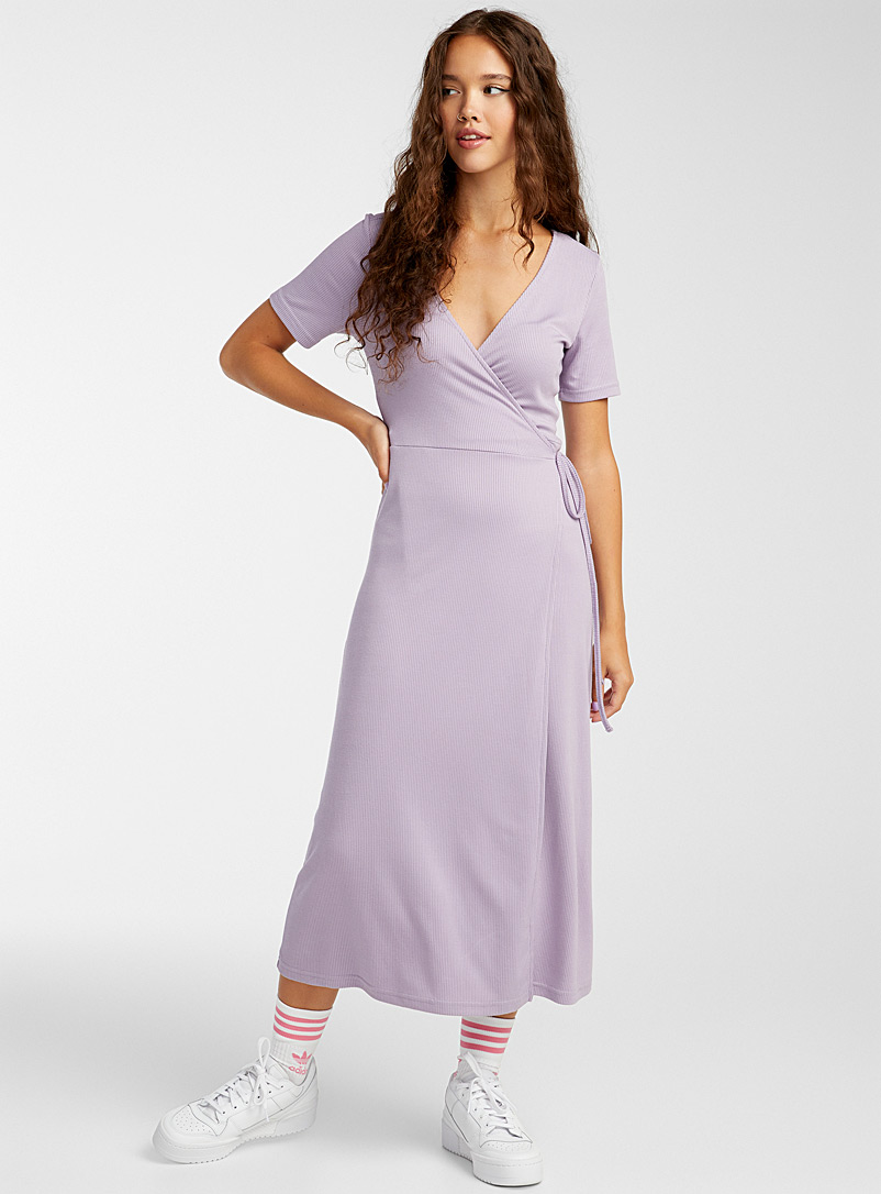 Twik Lilacs TENCEL* Modal wrap maxi dress for women